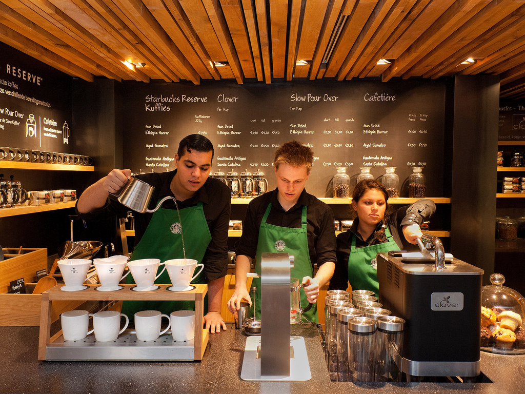 picture of starbucks employees