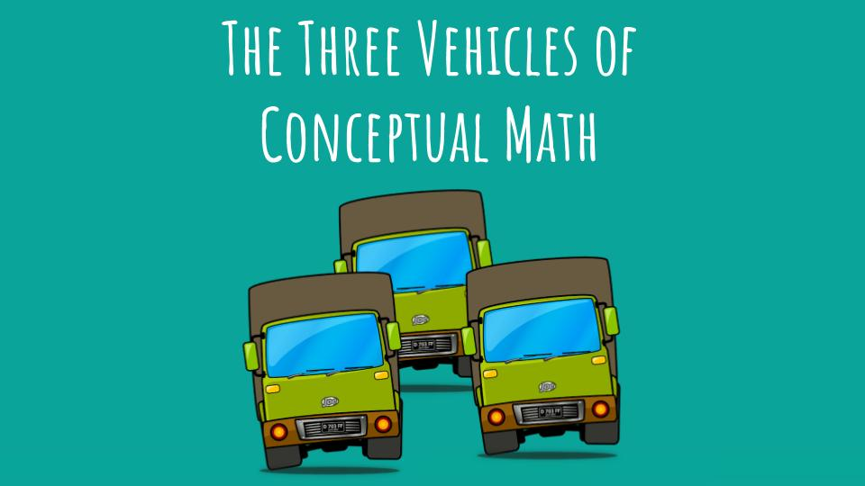 The three vehicles of conceptual math help teachers bring meaningful, active learning to any math classroom