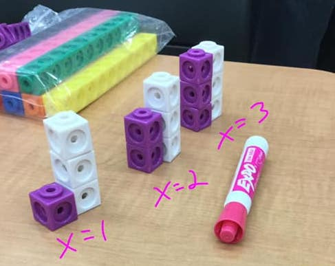 Visual model and manipulatives workshop for middle school math teachers