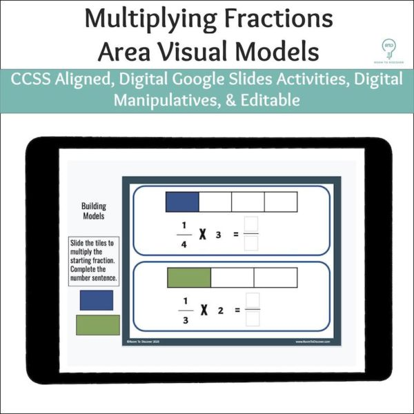 Multiplying Fractions with Area Models Activities